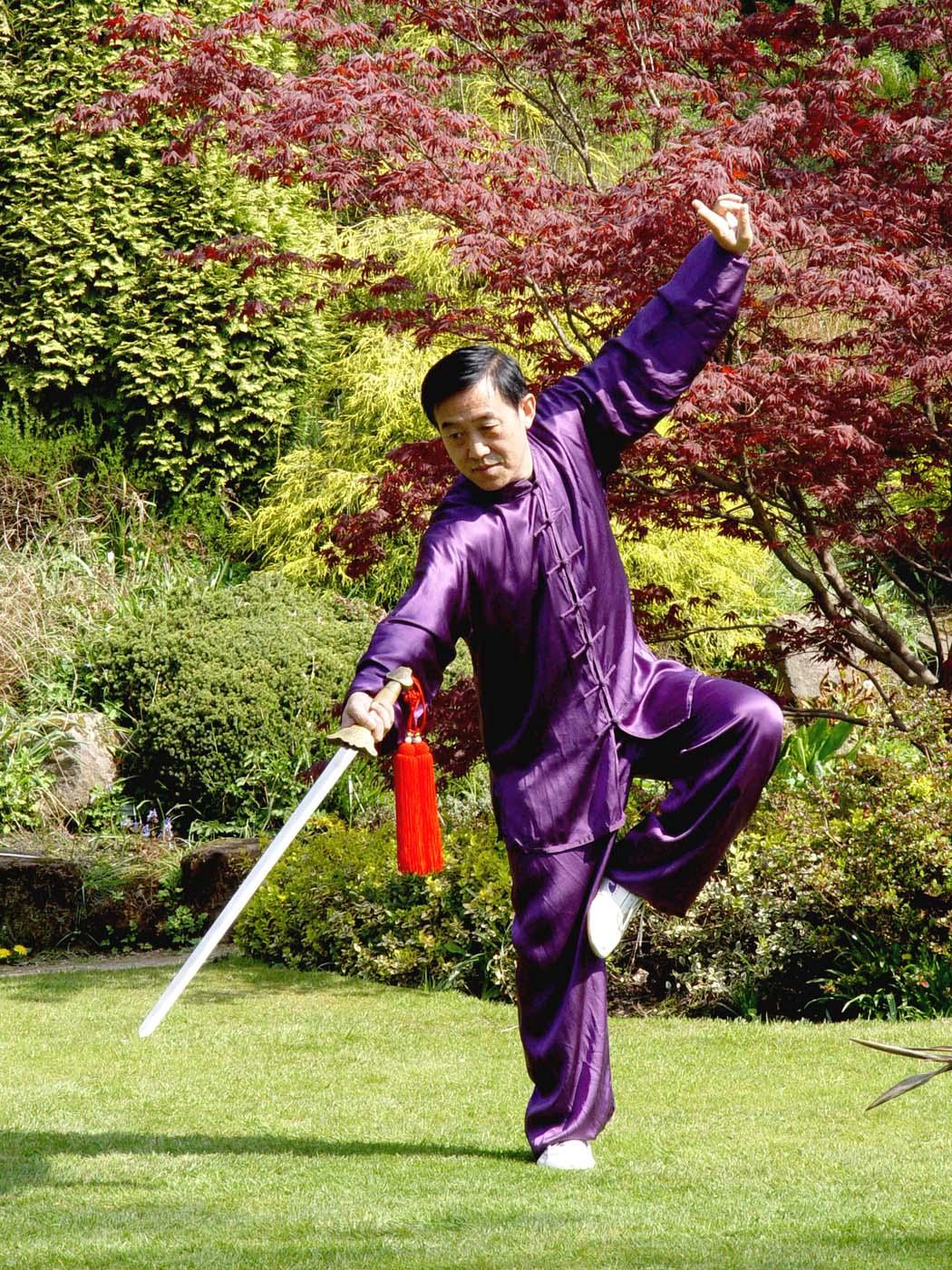 Great Grand Master of Chen-Taijiquan, Chen-Taiji Chen Zhenglei sword Schwert